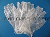 명확한 분말 분말 자유로운 처분할 수 있는 의학 비닐 장갑