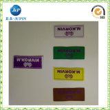 De fabriek paste het Etiket van het Kledingstuk van het Teken van het Merk van de Kleding, Geweven Etiket (JP-CL105) aan