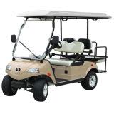 Amarillo del carro de golf del panel solar 2+2-Seater en hotel