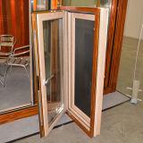 Ventana de madera de aluminio del marco de la rotura termal colorida de la alta calidad con el bloqueo multi K03044