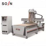 Trois professionnels de la tête CNC la gravure sur bois de la machine avec Approbation CE