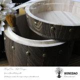 Casella di legno rotonda di Hongdao per Coffee_C