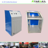 Piezas eléctricas revestidas modificadas para requisitos particulares de la fabricación de metal de hoja del vector del polvo del OEM con el corte del laser de la soldadura de la precisión y el arte de servicio de doblez
