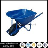 卸し売り鋼鉄プラットホーム手のカートの一輪車Wb8600