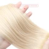 Toupee diritto serico della natura di alta qualità dei capelli umani indicatori luminosi reali delle donne degli alti