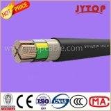 Yvz2V (NYRY) câble de cuivre, 0,6 / 1 Kv PVC isolés fils ronds en acier blindées, câbles multi-Core avec Cuivre