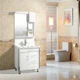 Silver MirrorおよびSide Cabinetの簡単なPVC Bathroom Cabinet