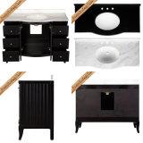 Шкафы ванной комнаты дешевого Carrara мраморный верхнего Espresso Fed-1820A самомоднейшие