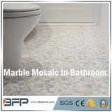 Weiße Marmormosaik-/Muster-natürliche Steinfliese für Innenarchitektur
