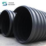 HDPEの排水の管のスチールバンドの補強されたHDPEの螺線形の波形の管