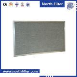 Filtre en aluminium augmenté pré ondulé en métal de maille