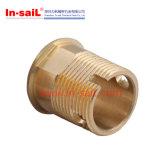 CNC подвергая медную и латунную внешнюю втулку механической обработке резьбы