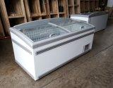 결합된 작풍 유리제 문 냉장고 냉장고 상업적인 냉장고에 의하여 구부려지는 냉장고 섬 냉장고