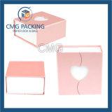 Contenitore piacevole di braccialetto dei monili di colore rosa di disegno (CMG-PJB-117)