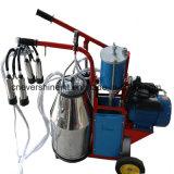 El pistón del motor eléctrico de la máquina de ordeño funcionan mano sola vaca cuchara