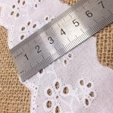 Nouveau style de broderie de fleurs dentelle de coton pour Lady's Vêtements