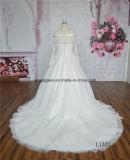 Lace Off-Shouler Vestido de casamento manga comprida