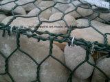 Cestino rivestito della rete metallica del PVC Gabion