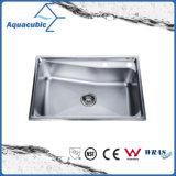 Dissipador de cozinha quente do aço inoxidável da venda com placa de drenagem (ACS5064)