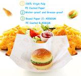 Papel recubierto de PE de grado alimentario para el Hamburger embalaje