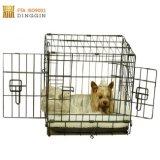 22'' de la jaula de malla de alambre negro para perro