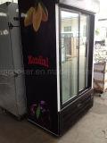 Supermercado Porta de vidro do visor de Refrigerantes geladeira com porta deslizante