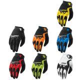 Перчатки мотоцикла желтого горячего сбывания вездеходные участвуя в гонке (MAG58)