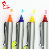 Crayon lecteur en plastique de logo personnalisé par crayon lecteur de barre de mise en valeur de qualité sur la vente