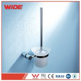Polissage large support de Brosse de toilette en acier inoxydable avec brosse