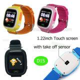 Heiße verkaufen1.22inch Screen-Kinder GPS-Verfolger-Uhr (D15)