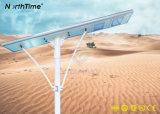lámpara de calle solar al aire libre integrada de 110W LED con teledirigido