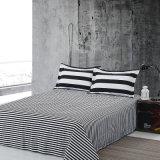 흑백 줄무늬에 의하여 인쇄되는 가정 직물 위안자 침구