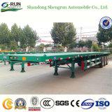 Aanhangwagen van de Vrachtwagen van de Aanhangwagen van de Fabrikant van China van Shengrun Flatbed/van de Aanhangwagen van de Container Semi