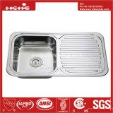 Conseil de vidange en acier inoxydable évier de cuisine, évier, acier inoxydable pour montage supérieur de la cuvette unique évier de cuisine avec le Conseil de vidange