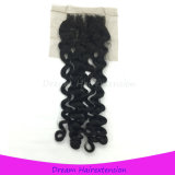 Sein kann gefärbtes Haar mit gebleichtem Knoten-italienischem wellenförmigem Spitze-Schliessen