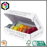 Het kleurrijke Verpakkende Vakje van het Document van Donuts van de Rang van het Voedsel van de Opstelling van Vier Hoek