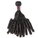 Cabelo humano brasileiro de tecelagem por atacado do Virgin de Remy da cutícula da extensão do cabelo