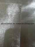 Ambo fibra de vidrio movida hacia atrás del papel de aluminio de la cara para ignífugo