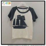Maglietta semplice del neonato di stile del collo di usura rotonda del bambino