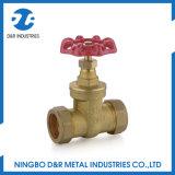 Válvula de porta de bronze com o conetor de Handlewheel Unino