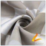 agua de 50d 220t y de la manera de la chaqueta tela catiónica tejida chaqueta Viento-Resistente 100% del filamento del hilado del poliester del telar jacquar de la tela escocesa abajo (53127)
