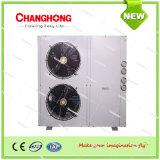 중앙 공기조화 공기에 의하여 냉각되는 소형 냉각장치 및 열 펌프 단위