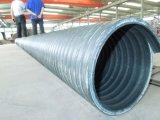 Ligne ondulée d'extrusion de pipe d'évacuation spiralée de HDPE