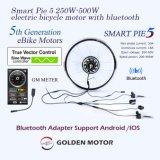 지능적인 파이 5 전기 자전거 변환 Kit/BLDC 모터 허브 모터 지원 Bluetooth 접합기 및 LCD 디스플레이