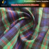 ポリエステルヤーンのスカート(YD1113)のための染められたスパンデックスの小切手ファブリック