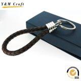 Keychain 선전용 공백 가죽 열쇠 고리