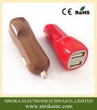 선전용 보편적인 두 배 USB 셀룰라 전화 차 충전기