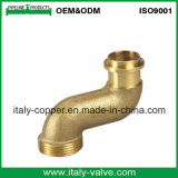 Codo masculino de bronce de alta presión del OEM (AV-QT-1027)