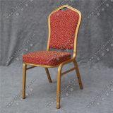 Frame de alumínio da tela vermelha que empilha a cadeira Yc-Zl22-02 do quarto de hotel