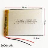 células de bateria do íon de Li do polímero do lítio de 505068pl 3.7V 2000mAh Lipo para o PC DVD da tabuleta do banco da potência do telefone móvel